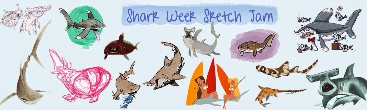 Shark Week Sketch Jam
