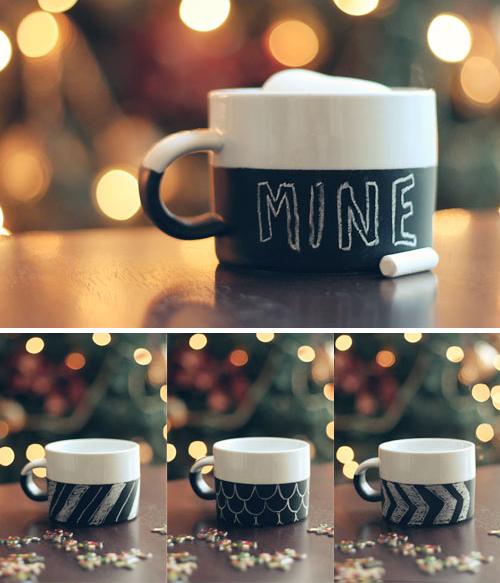 Sweet Petite Diy Chalkboard Coffee Mug