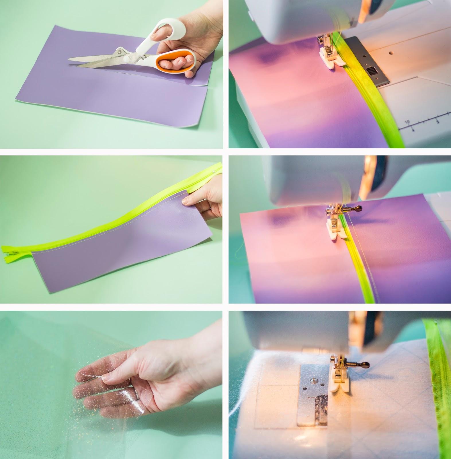 Live it . Love it . Make it.: Make it: Pastel and Neon Clutch Bag