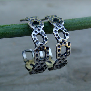 recycled silver earrings