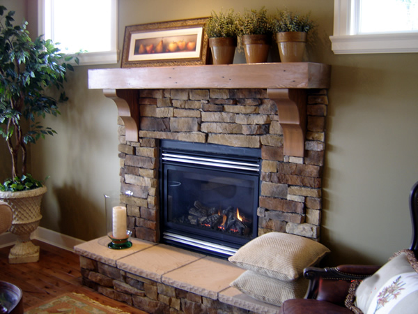 Fireplace mantels as a center point in the interior design of a room house interior decoration - Fireplace finish ideas ...