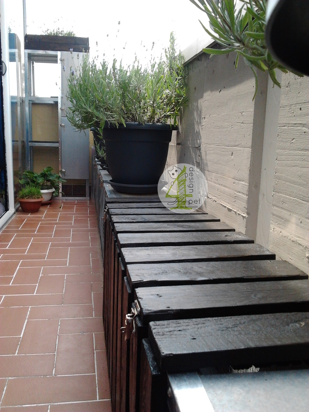 Terrazzo dependance estiva a misura di gatto - Parapetto finestra ...