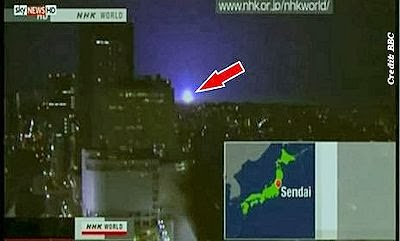 Strange Glowing Orbs Seen During Fukushima Earthquake
