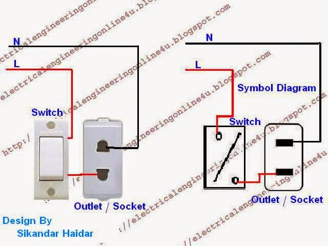 wiring a switch socket circuit diagram symbols u2022 rh armkandy co 1 switch 1 socket wiring diagram 3 switch 3 socket wiring diagram