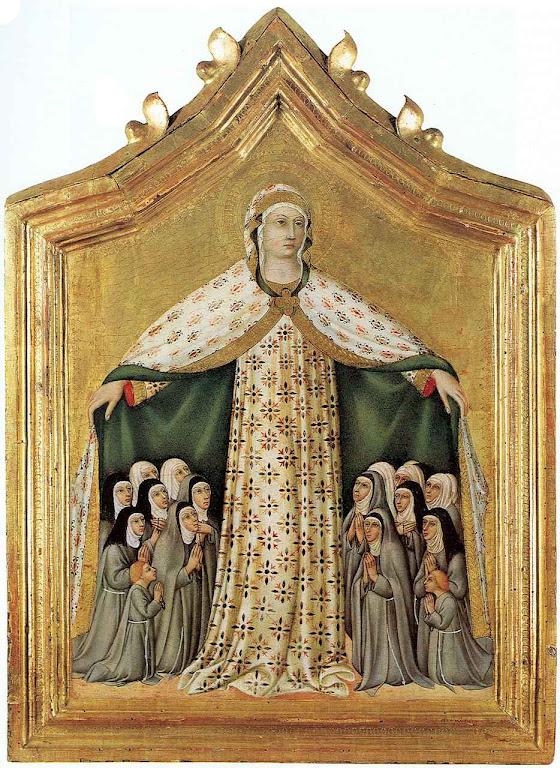 Nossa Senhora da Misericórdia. (Sano di Pietro (1406–1481), col. privada