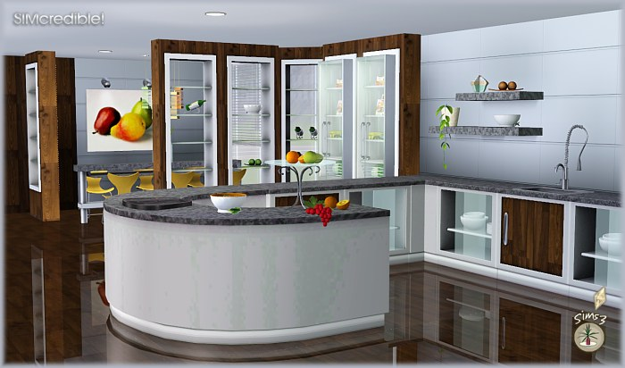 My sims 3 blog audacis kitchen set by simcredible designs for Sims 2 kitchen ideas