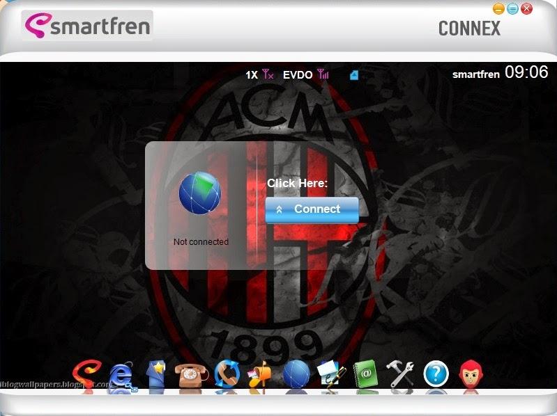Download Skin Modem Smartfren Connex AC782 UI Edisi Ac Milan F.C