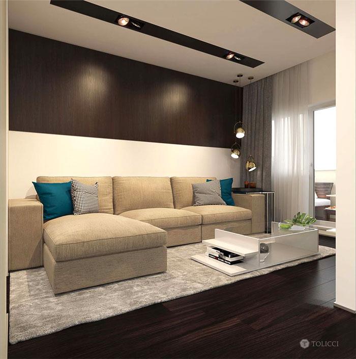 نظرة شاملة على صالون الشقة