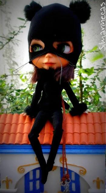 cómo hacer disfraz de gato para basaak doll o blythe