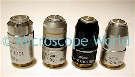 Microscope objective lenses (image)