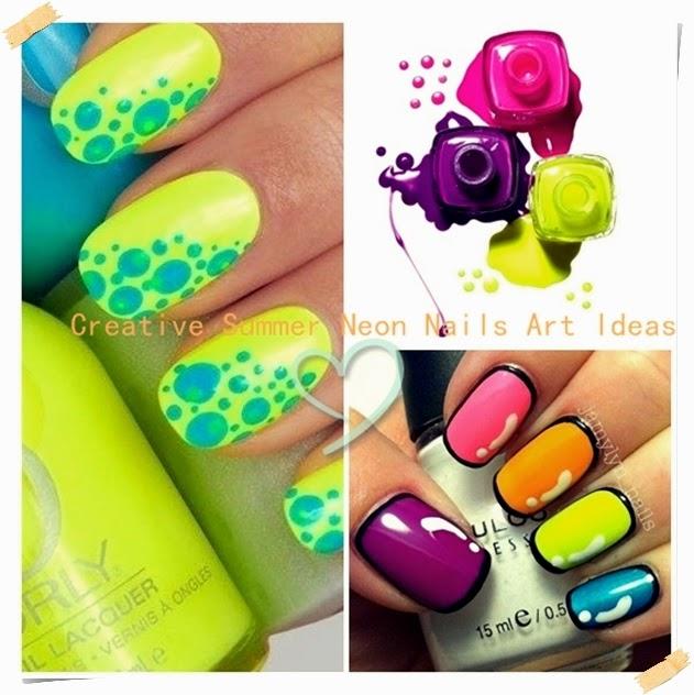 Creative Summer Neon Nail Art Ideas Celebrity Street Fashions