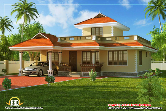 Beautiful Kerala Style House House Architecture - 142 Square Meter (1524 Sq. Ft) - February 2012