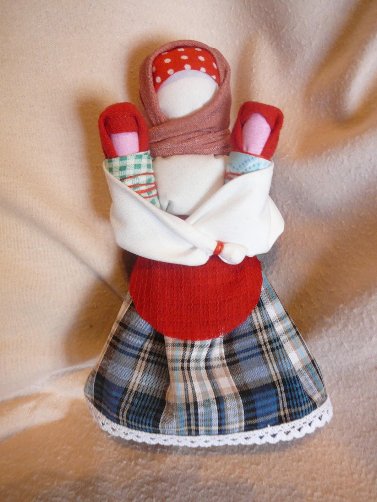 Сделать тряпичную куклу оберег