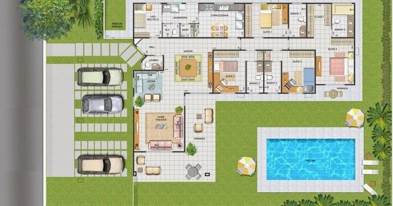 Piscinas lindas y modernas en fotos plano de casa con piscina for Planos para piscinas