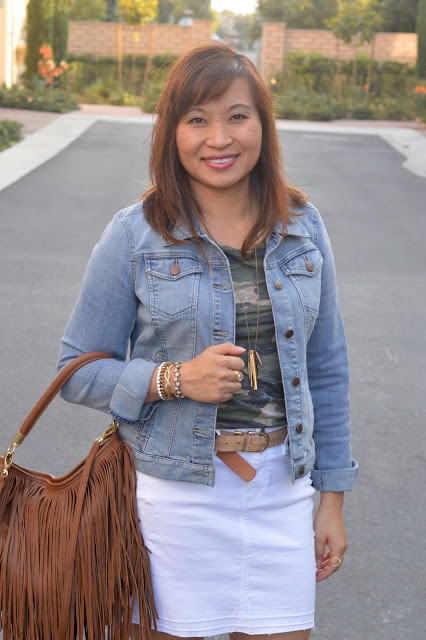 Over 40 Fashion, OC Blogger, J Crew Camo Tee