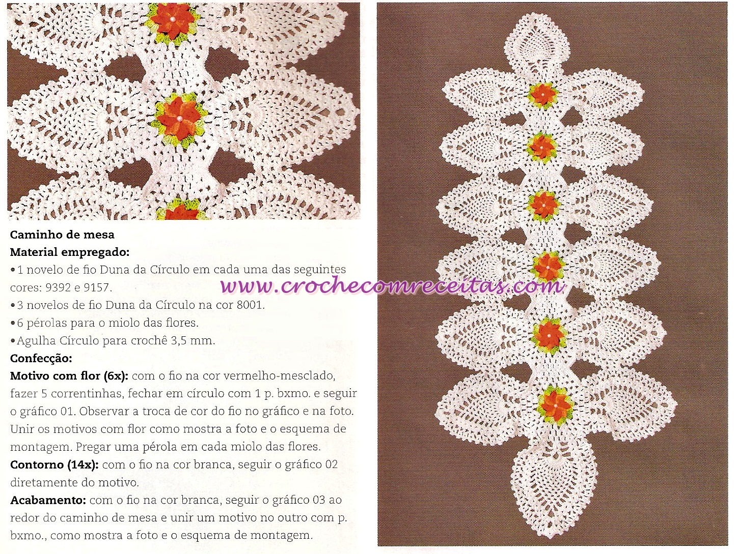 Схема салфеток под цветы крючком