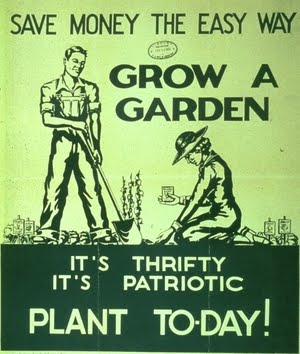 Two Men And A Little Farm Vintage Victory Garden Poster Sunday