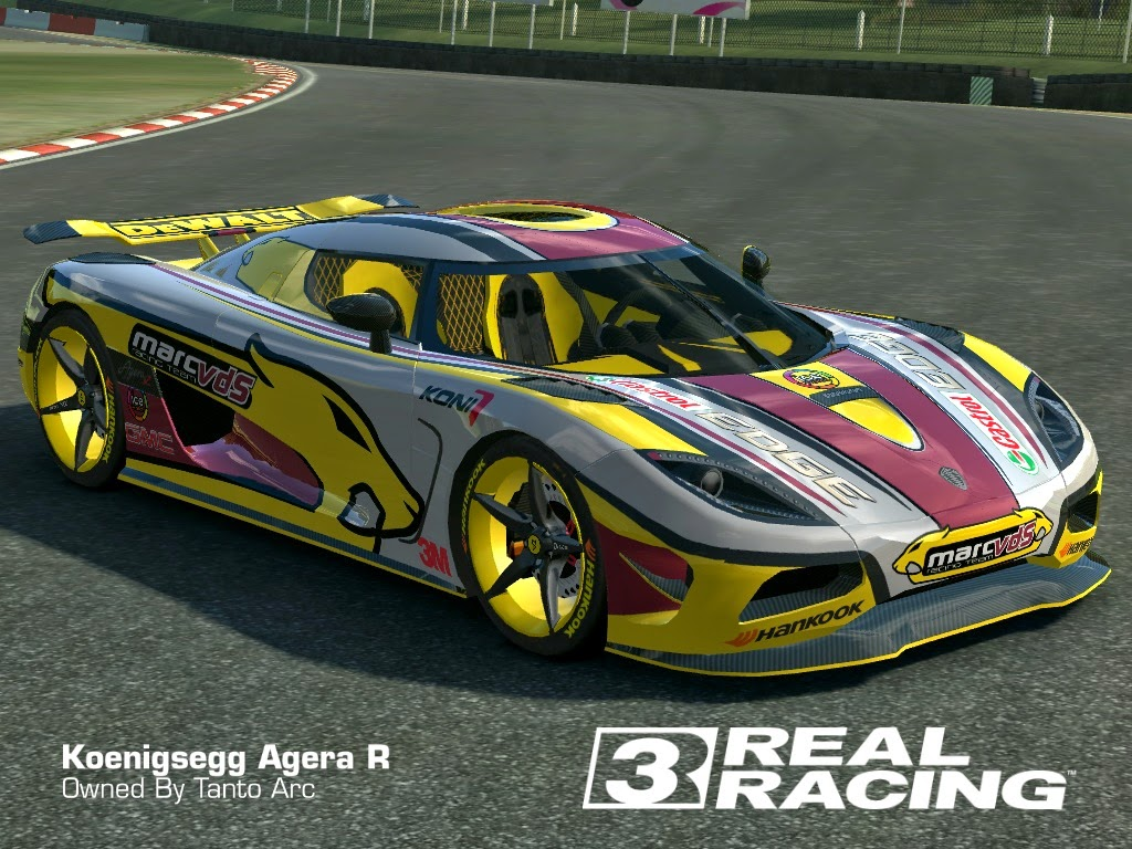 Real racing 3 skin 2013 koenigsegg agerar marc vds racing agera r by tanto arc