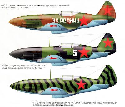 Окраска истребителя МиГ-3