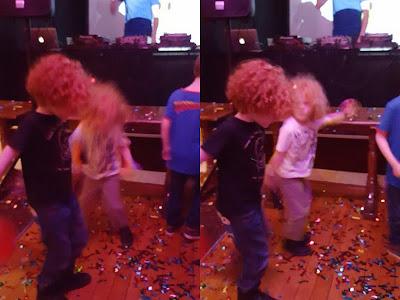Glitter confetti and bubbles Big Fish Little Fish Family Rave Manchester