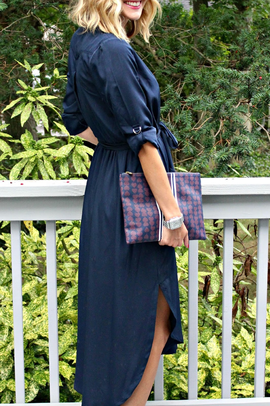 navy monochrome outfit