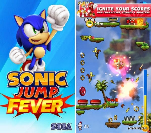 Sonic Jump Forever Android Game released by SEGA