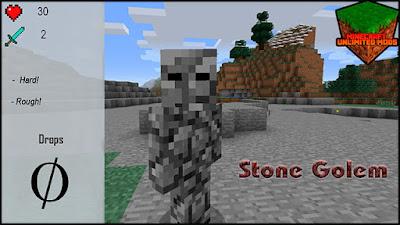 XtraCraft Mod stone golem
