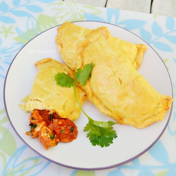 Chicken Chorizo and Cilantro Empanadas