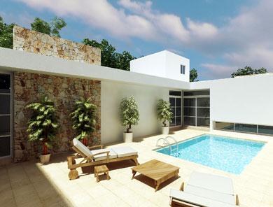 Fachadas de casas modernas fachada minimalista trasera de for Casa minimalista con alberca