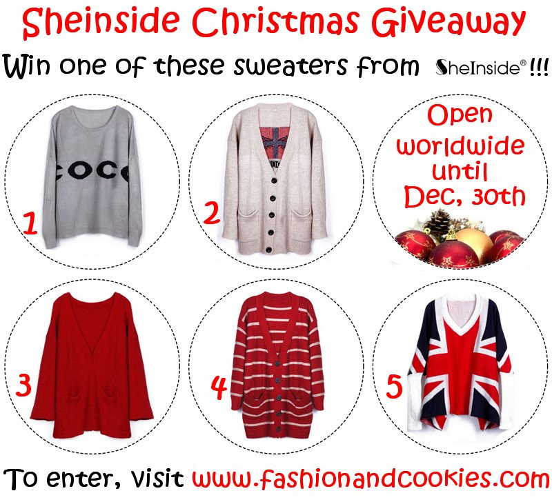 Sheinside giveaway on Fashion and Cookies