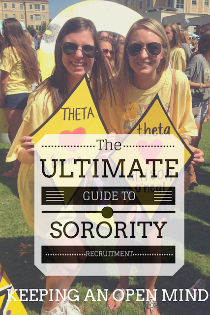 The Ultimate Guide to Sorority Recruitment: Keeping an Open Mind