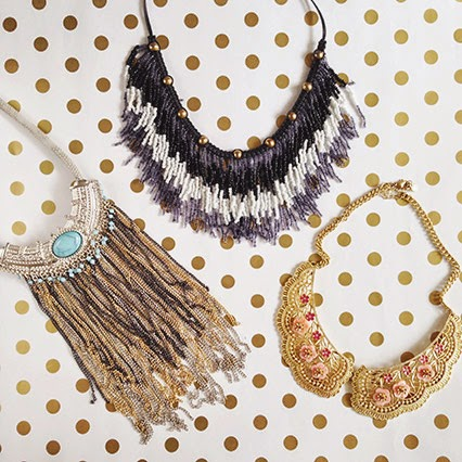 statement necklace, summer necklaces, summer jewelry, topshop necklace, free people fringe necklace, collar necklace