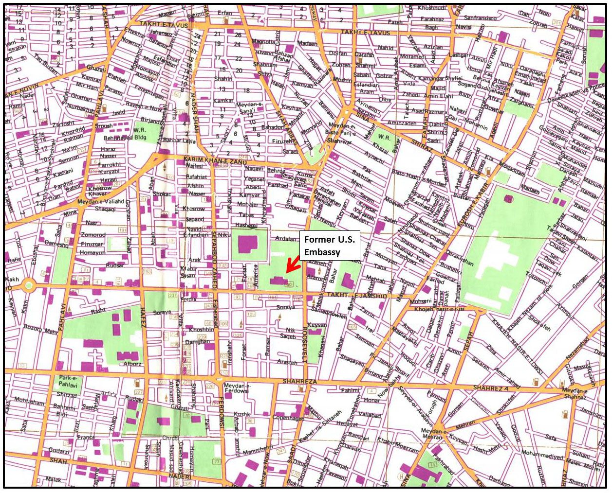 GIS Research and Map Collection Map of Tehran from Ball State