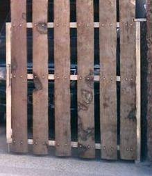 wood overhanging