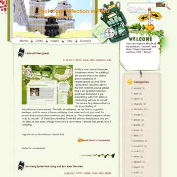 Pack Your Affection in Peru Blogger Template. free download template blogspot
