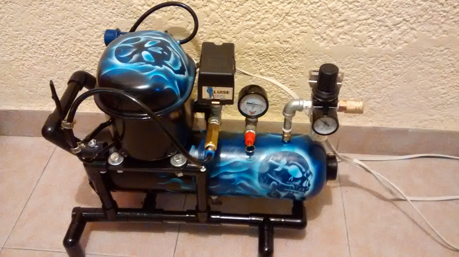 Galeria arte y dise o madekids mini compresor - Manometro para compresor ...