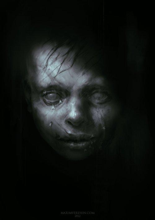 maxim verehin ilustrações macabras sombrias arte conceitual