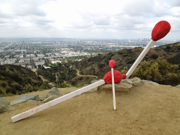 Giant matchsticks Runyon Canyon