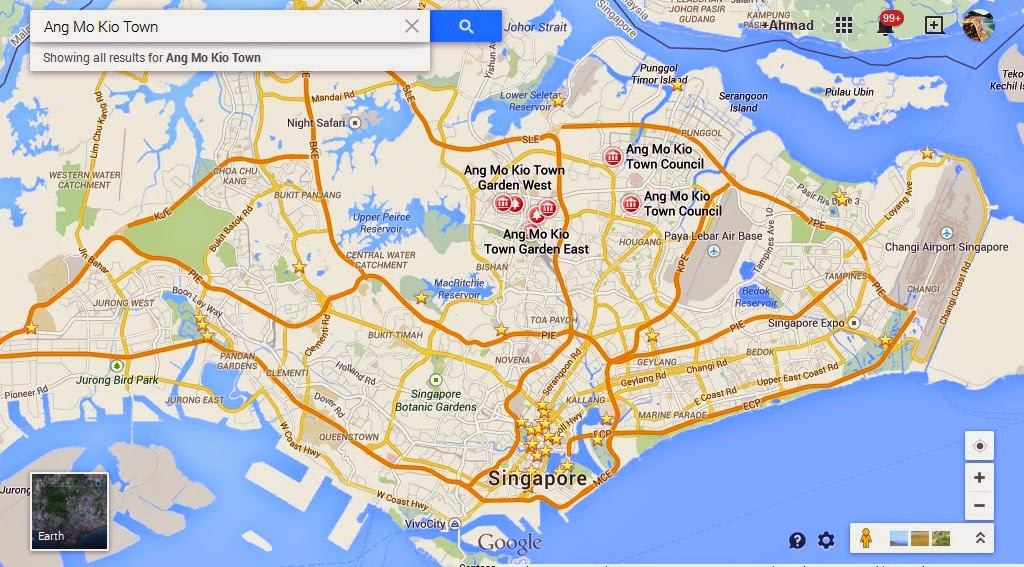 Ang Mo Kio Town Singapore Map Tourist Attractions in Singapore – Tourist Attractions Map In Singapore