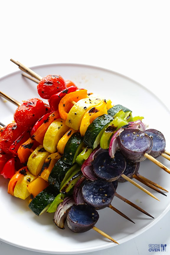 RAINBOW #VEGGIE SKEWERS