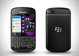 os kedua ponsel tersebut adalah blackberry q10 dan blackberry z10