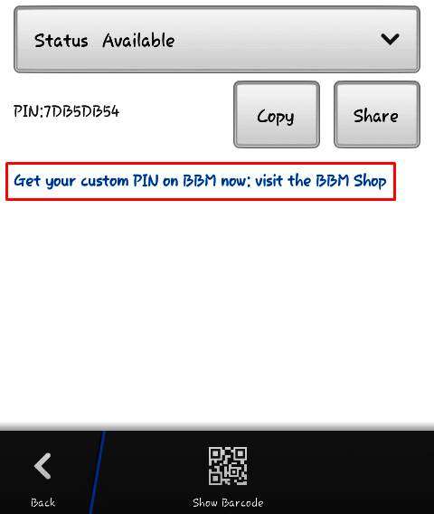 How To Get Your Custom PIN On BBM