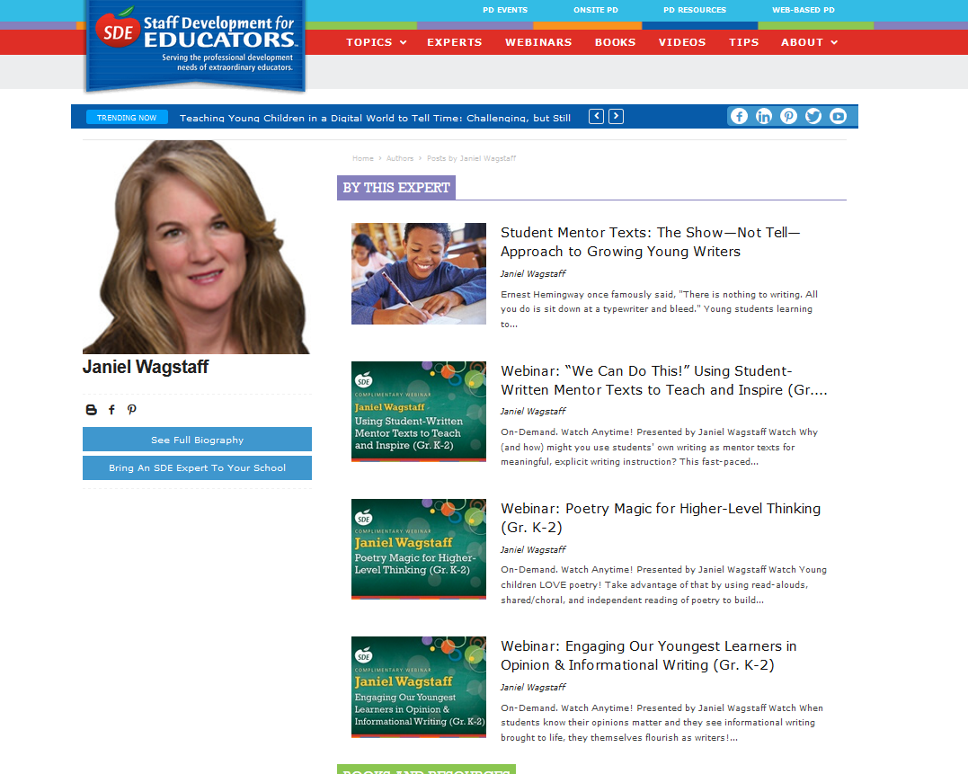 View My Complimentary SDE Literacy Webinars