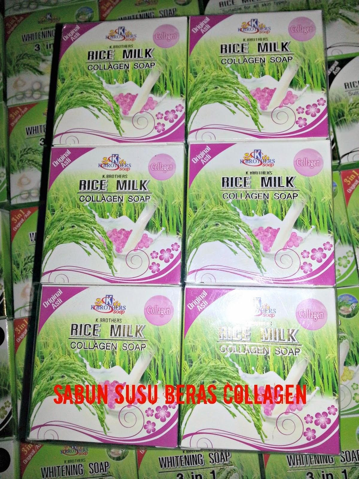 Acu Tnc Produk Sabun Susu Beras Collagen K Brothers 2 In 1