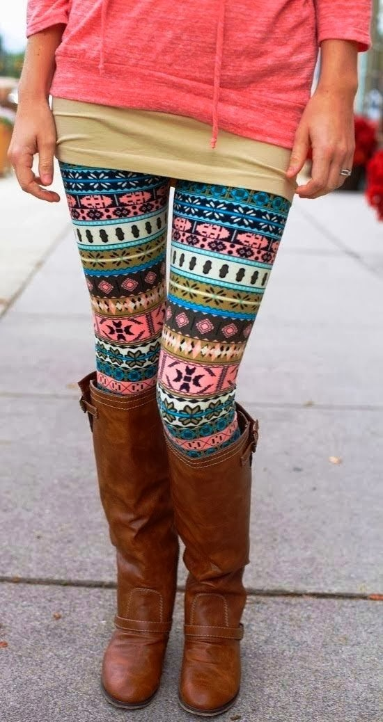 Cute outfits with printed leggings tumblr
