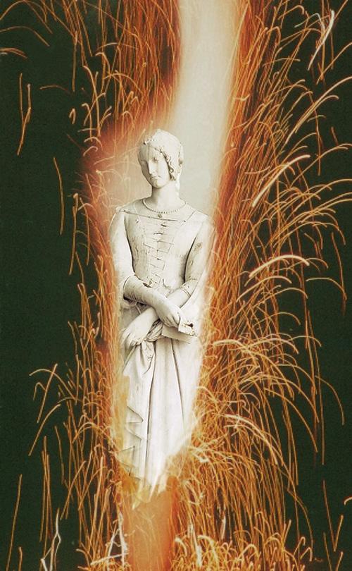 Claude-Lucien  CAUËT, Collage «L'Explosante » in Revue  Peculiar Mormyrid