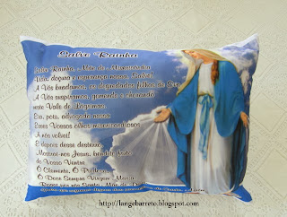 Travesseiro Oração Salve Rainha