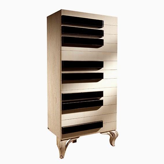 Marzua muebles con forma de instrumentos musicales - Muebles por un euro ...
