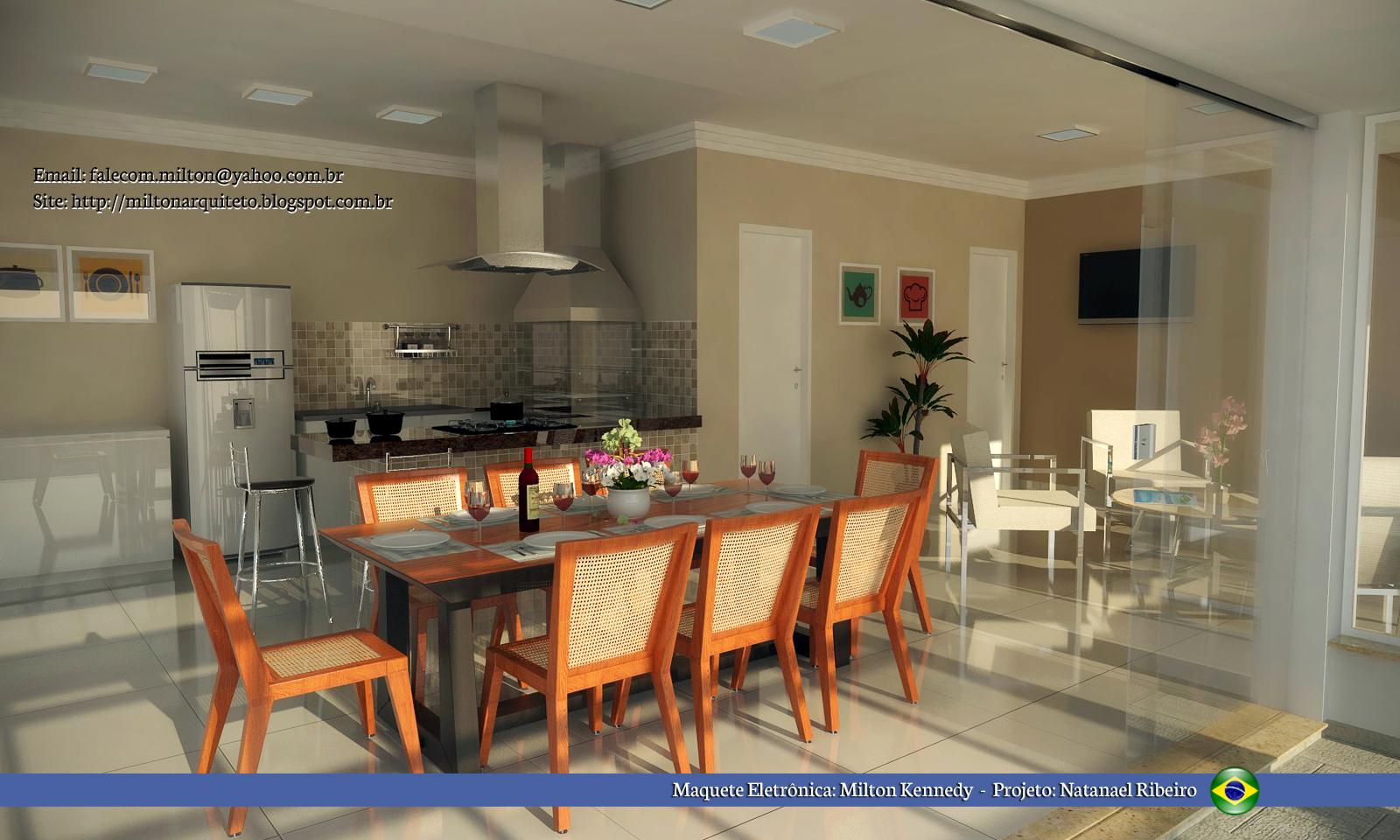 Projeto cozinha gourmet #AB4920 1600 960