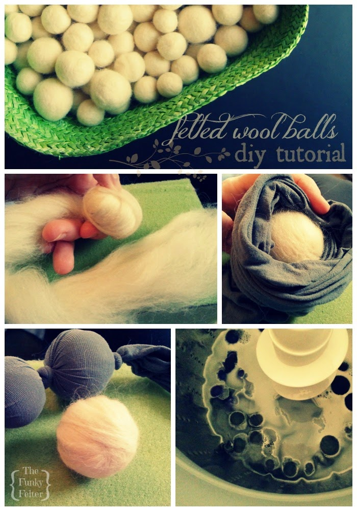 how to make felt wool balls or beads craft tutorial plus tips by the funky felter